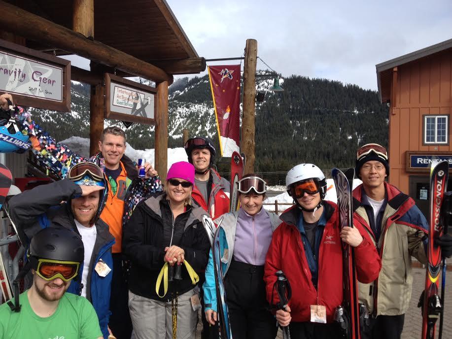 group ski shot