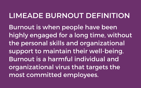 Limeade Burnout Definition 2 - The Ultimate Guide to Preventing Employee Burnout