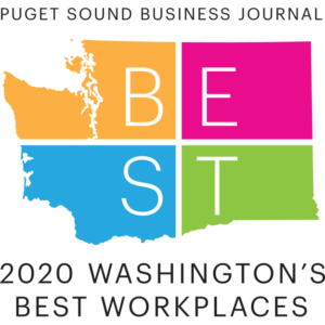 Puget Sound Business Journal 2020 Washington's Best Workplaces logo