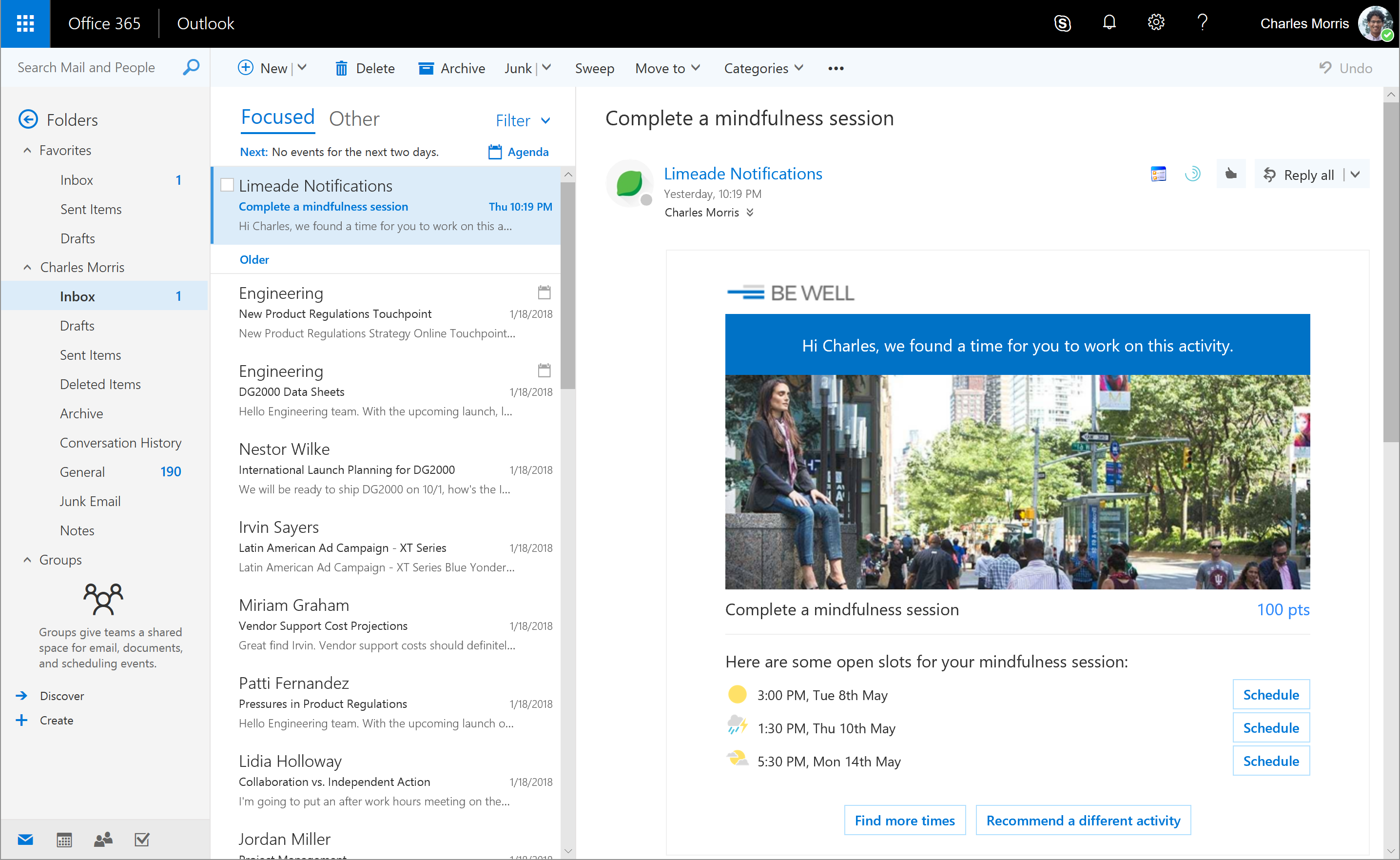 Adaptive Cards in Outlook 1 Limeade 300x184 - Limeade Announces Microsoft Integration to Help Employees Find Time to Improve Well-Being